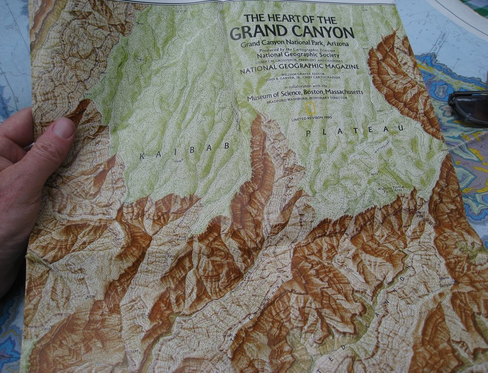 In addition to her climbing, Washburn helped create this map of the Grand Canyon, among many others. Source: brewbooks via Creative Commons