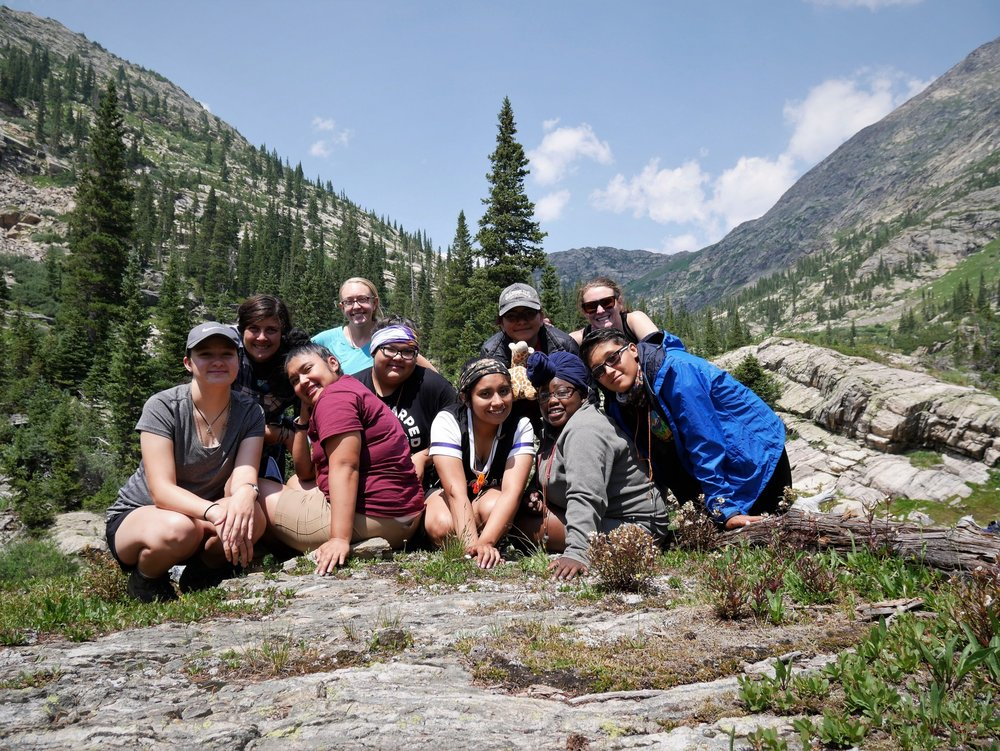 Group photo after a day spent exploring the Holy Cross Wilderness. Photo by: Elizabeth Williams