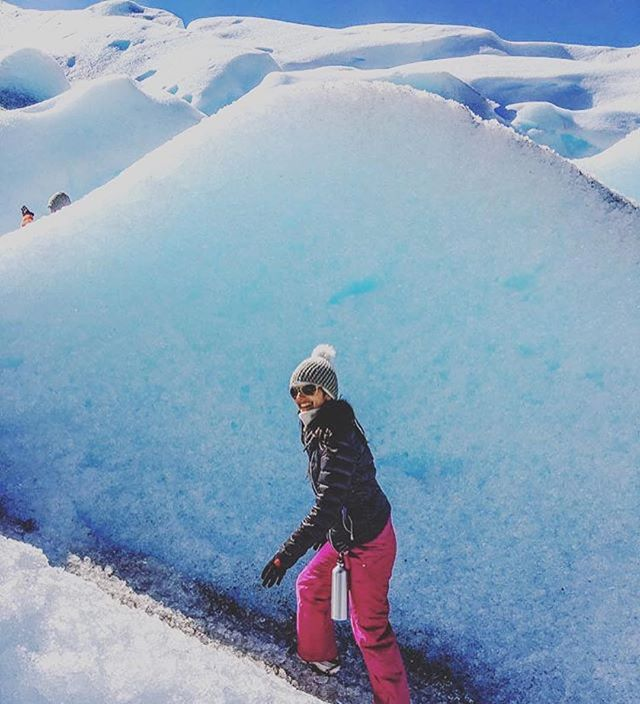 Venessa co-founder of @nomad_lane exploring glaciers in Patagonia- always a good idea!  Meet her this Wednesday in #NYC for #SheVentures. Tix link in bio 👆🏽 Vanessa Jeswani is a global digital marketing & e-commerce executive with 10 years of experience and an avid international traveler before she could walk. Along with her husband, she co-founded Nomad Lane, a brand of travel accessories that are stylish, well made and thoughtfully designed. Their products are developed with the international traveler in mind, drawing on their experiences traveling to more than 40 countries.  We can't wait to hear her share her story with us!  Also, awesome raffle to benefit @internationalmedicalcorps  Thanks to our sponsors @REI @kathmandugear @alleynyc @outdoorresearch