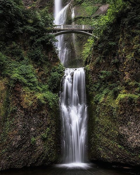 Under the bridge #waterfall #travel #traveling #landscape #photography #photographer #canada #forest #peace #silence #nikon #adventure #oregon #bridge #beautiful #photoftheday #jonathantucker #nature