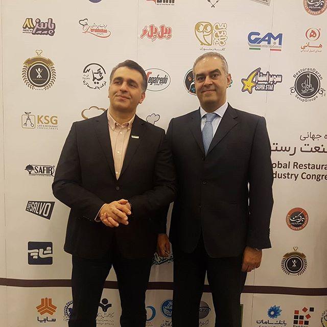 به همراه مهندس شف شهرام شجاعی در کنگره بین المللی صنعت رستوران در ایران  @philippebacha  @marayahospitality