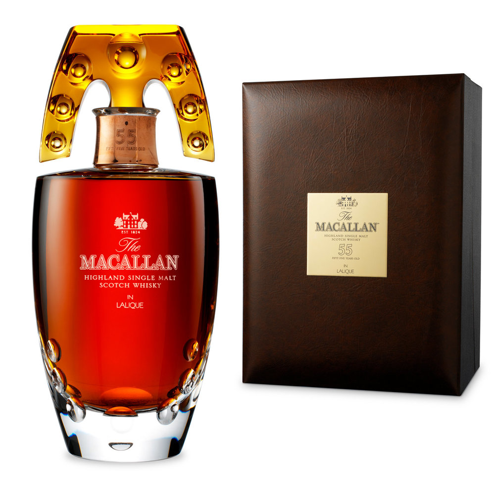 Yours free with the Macallan 55: an ornate hand grenade.
