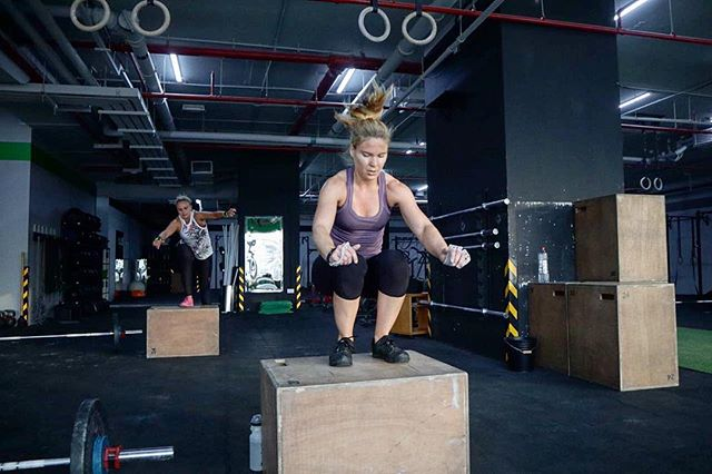 JUMPING IN TO THE WEEK LIKE Who is ready to take on a new week? • • • #BASE3 #fitness #lifestyle #community #ready #new #week #jump #girlswholift #crossfit #crossfitwod #conditioning #mydubai #fitnessdubai