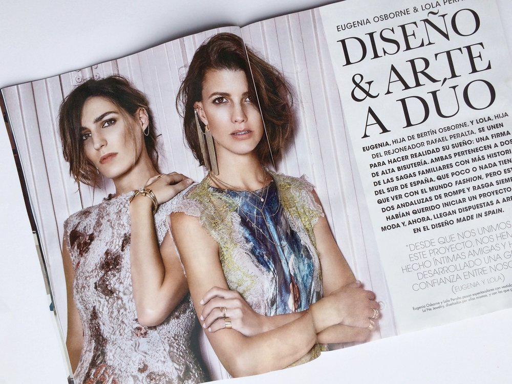 Lola Peralta y Eugenia Osborne, fundadoras de Lo'ne Jewelry