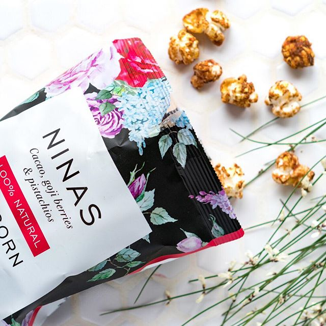 Did you know that Nina's is made using 100% plant-based ingredients and is gluten, wheat, dairy and refined sugar-free? As a bonus it's also loaded with delicious superfoods... who's tried our cacao, goji berries and pistachio flavour? #glutenfree #dairyfree #vegan #popcorn #refinedsugarfree #superfood