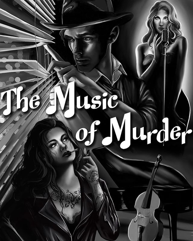 Fearless Felix Phoenix, the beatnik private detective in Jazz Noir: The Music of Murder, coming at the tail end of August  Art by Chiara Noemi Monaco, check her out at: behance.net/lenneluce #Noir #Detective #Podcast #Audioplay #AudioDrama #CrimeFiction #Pulp #Gumshoe