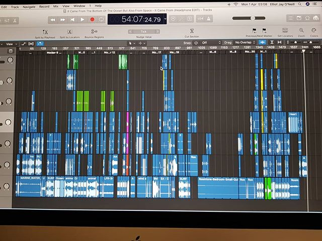 This is what a completed episode looks like! Post-production has taken SO LONG but I'm one step closer, its B-grade monster horror goodness and really happy with the result!  #podcast #radioplay #audioplay #horror #scifi #monster #bgrade #logic