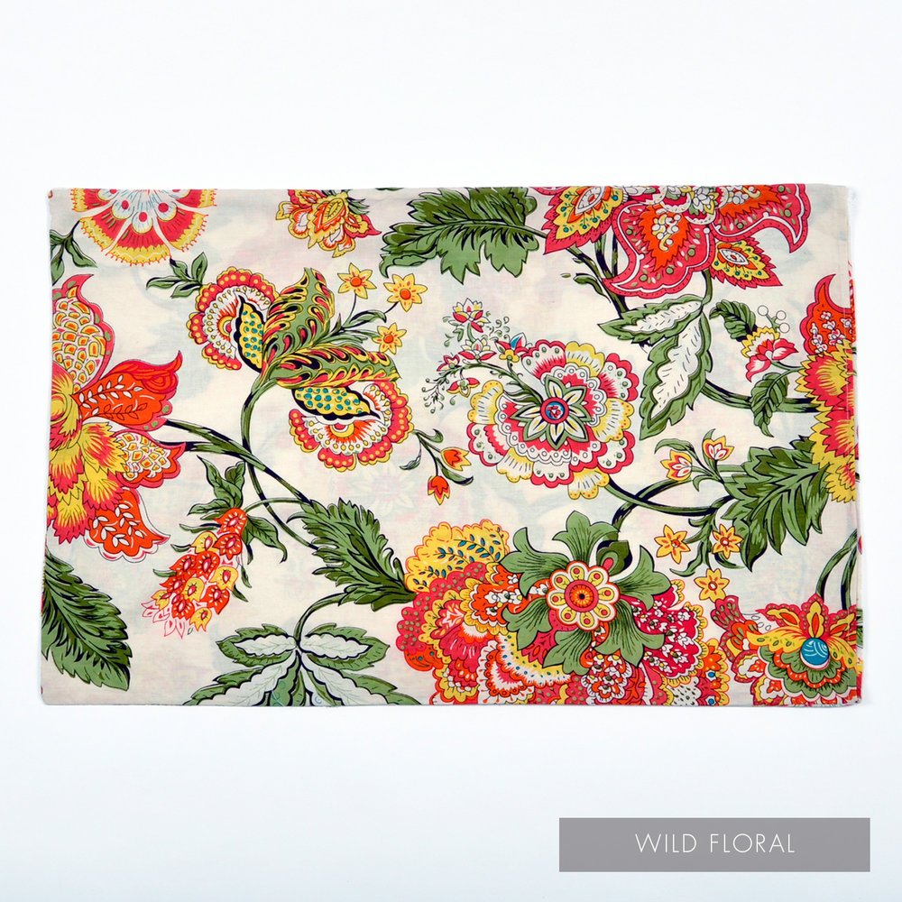 Wild Floral Pillowcase