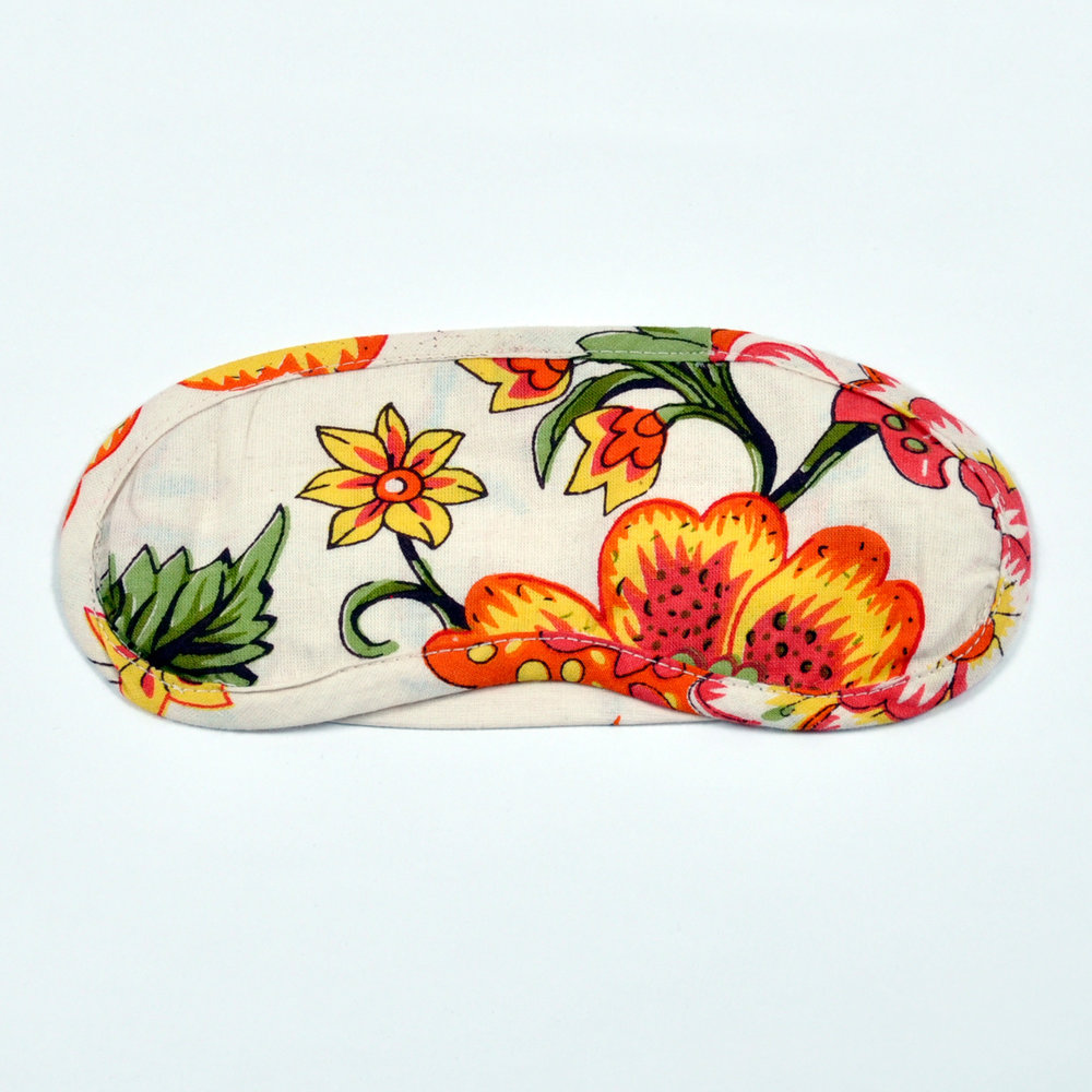 Wild Floral eye mask - front
