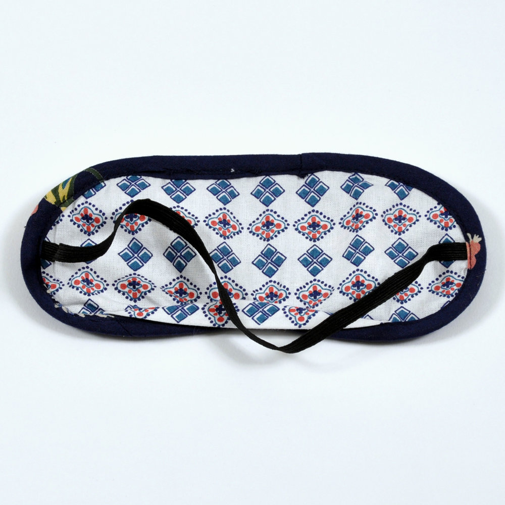 Fly Away Floral eye mask - reverse