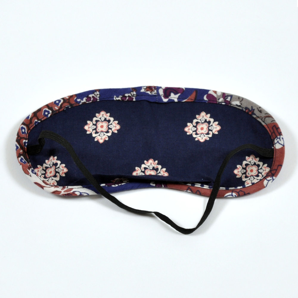 Vintage Patchwork eye mask - reverse