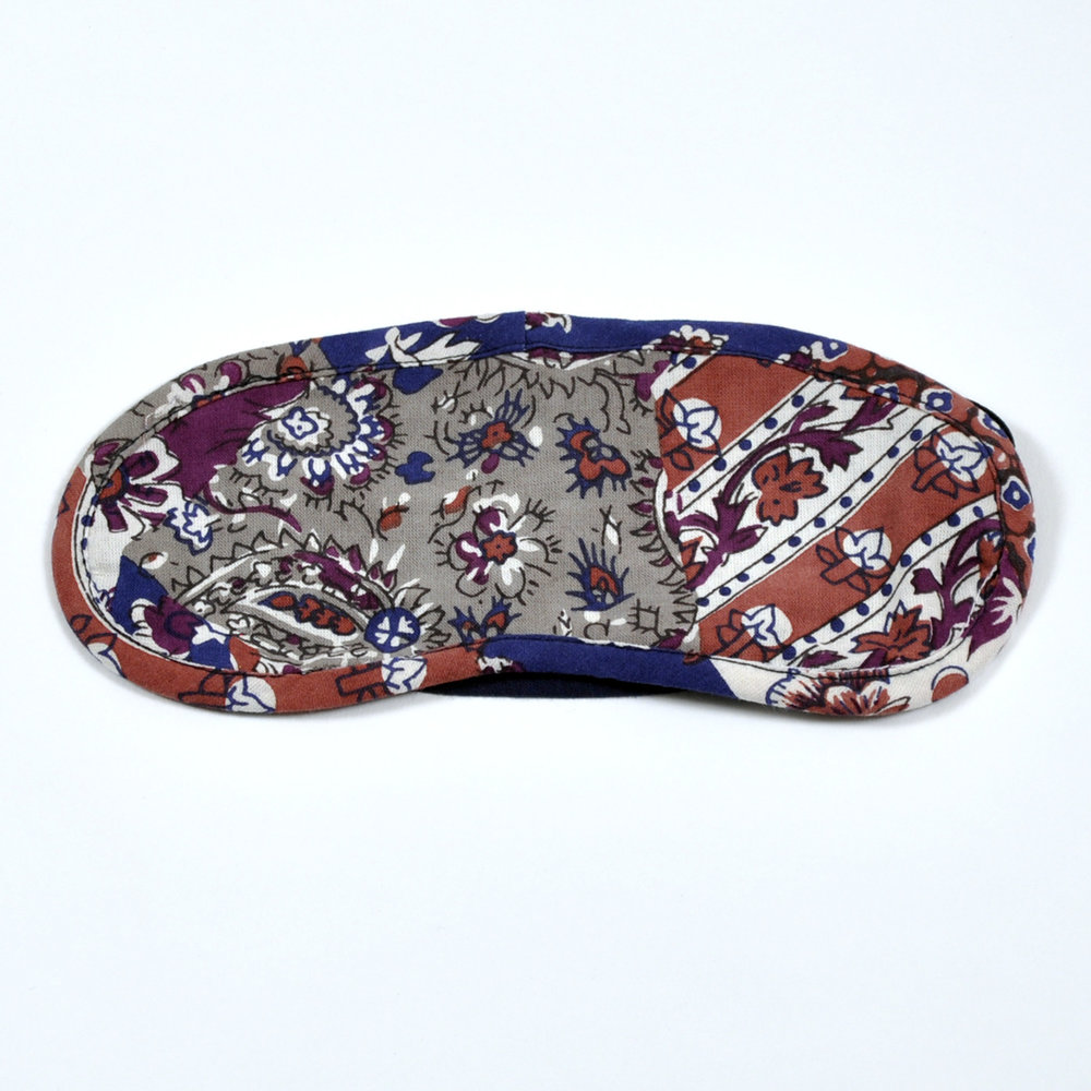 Vintage Patchwork eye mask - front