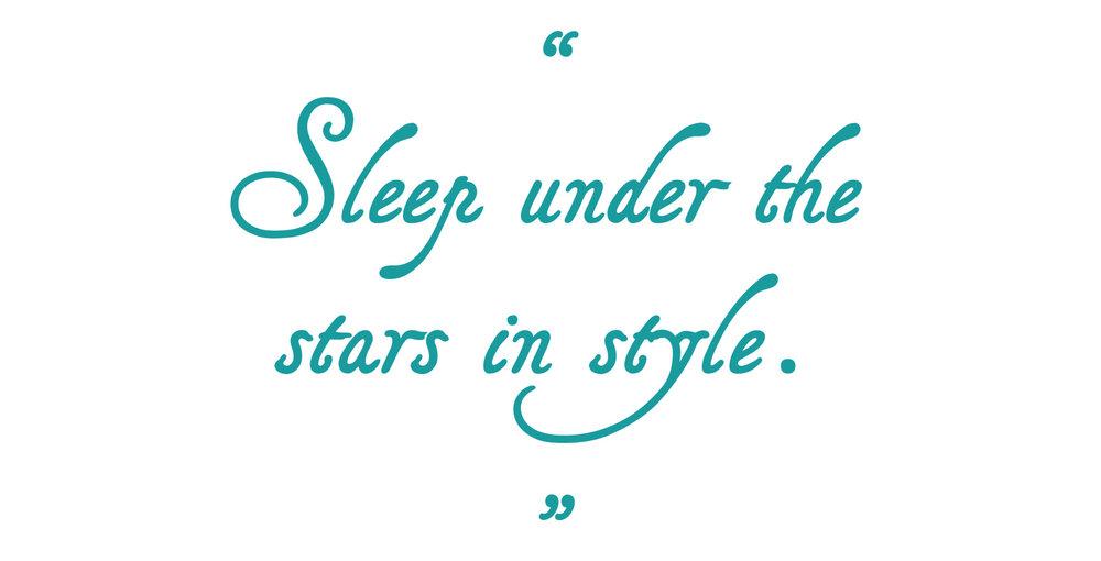 Sleeping Bag Beauties - Sleep under the stars in style