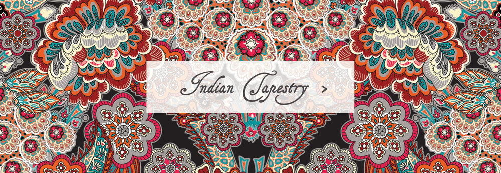 Indian Tapestry Sleeping Bag Beauties Pattern Print