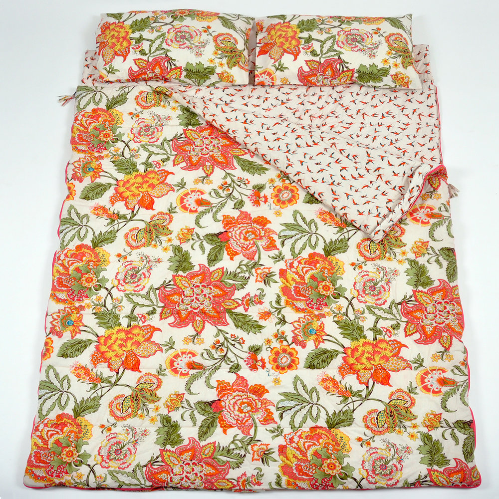 Wild Floral double sleeping bag