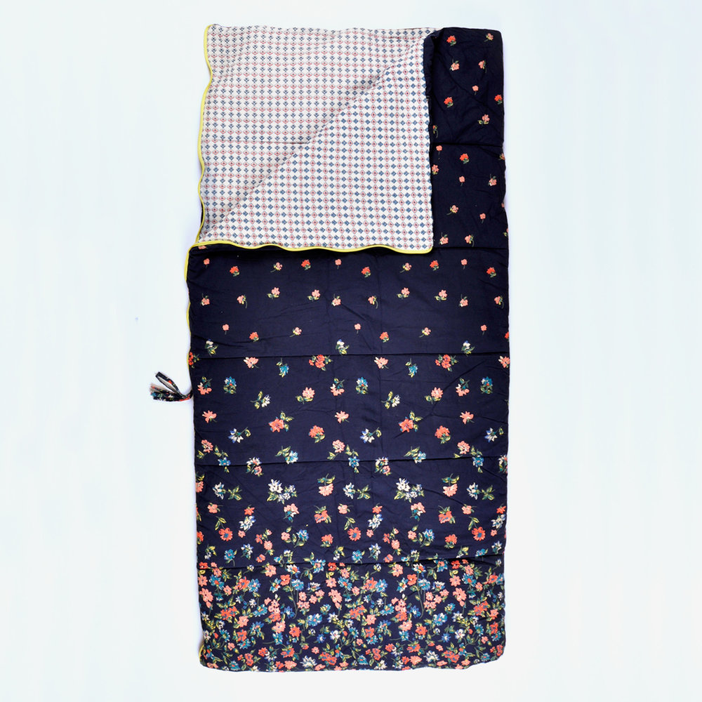 Fly Away Floral single Sleeping Beauties sleeping bag