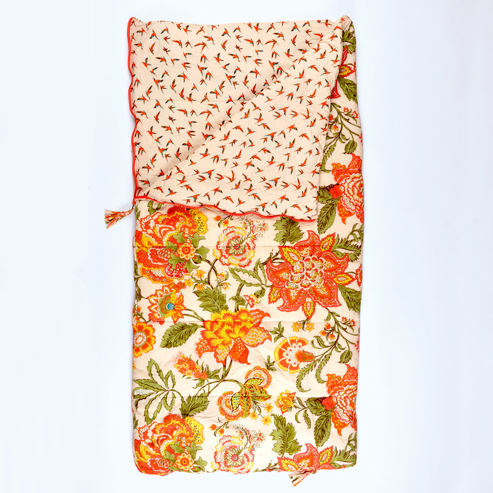 Wild Floral single Sleeping Beauties sleeping bag