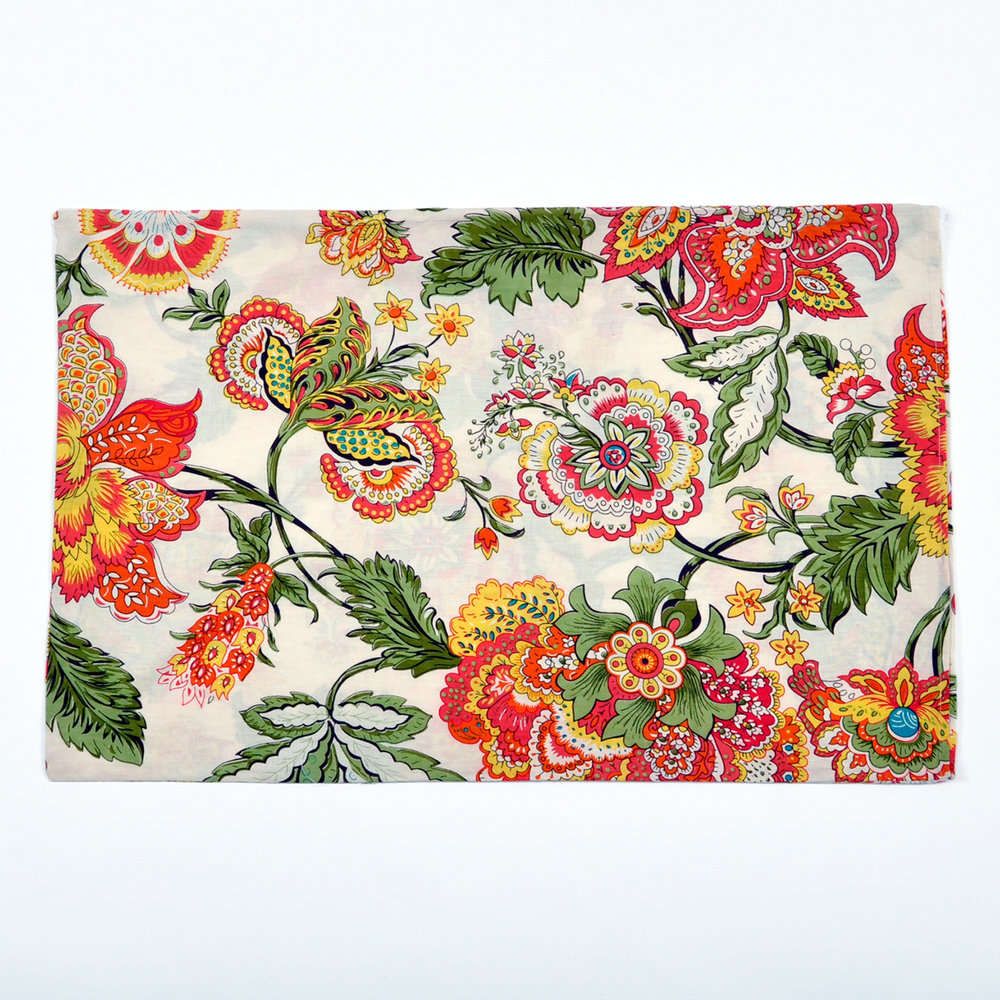 Wild Floral sleeping bag matching pillowcase