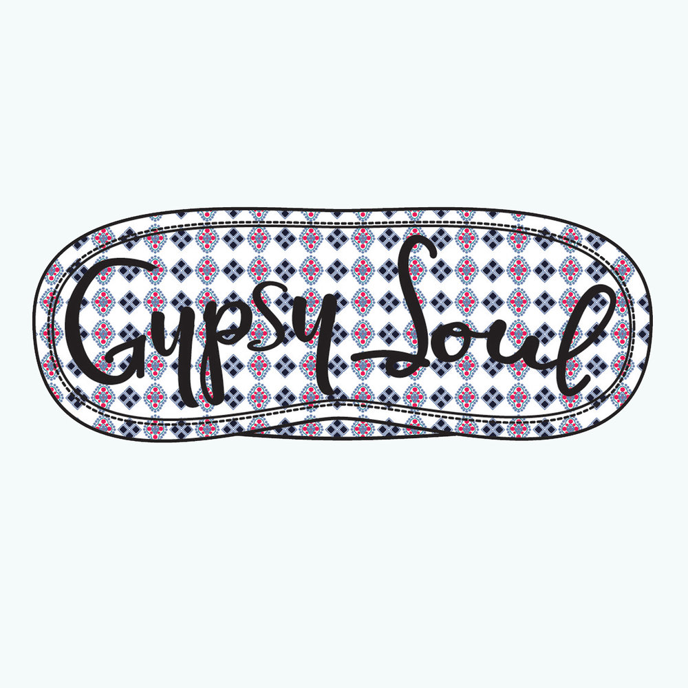 Embroidered Eye Mask