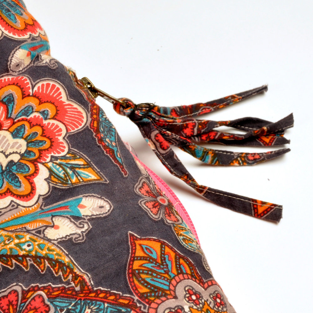 Indian Tapestry Tassel Zip Puller