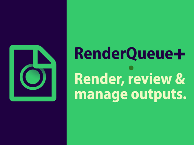 A handy After Effects workflow utility for rendering, reviewing, and managing outputs. - RenderQueue+ adds output versioning, background rendering, ability to set relative output paths, image-sequence review and managing utilities to your After Effects toolset. And more!