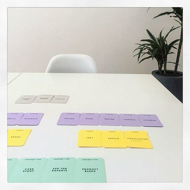 Cards in action across Europe. Lovely shot from the folk @bonsaii_studio writing copy in Italian & creating strategy in English #contentstrategy #kernelcards
