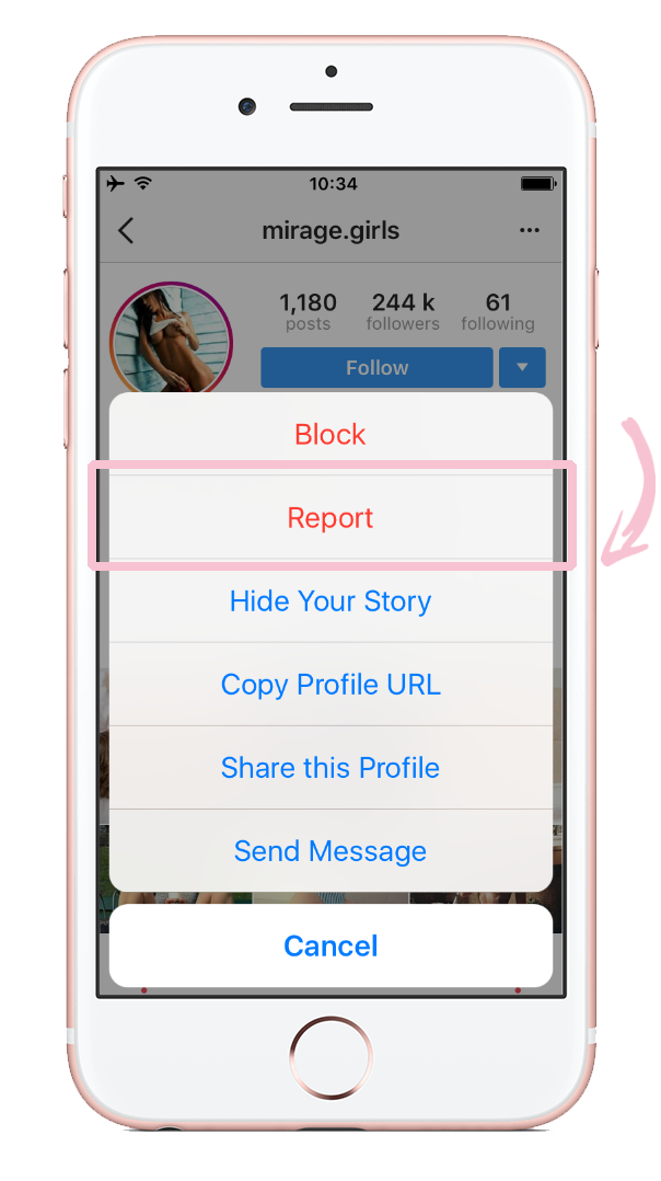 How to report nudity on Instagram 03