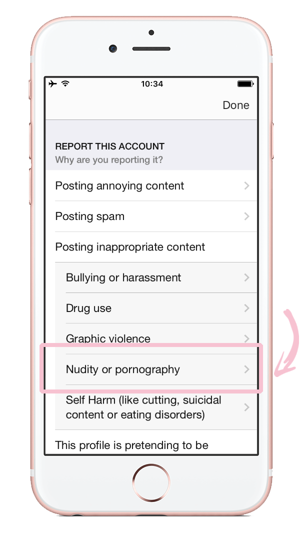 How to report nudity on Instagram 10