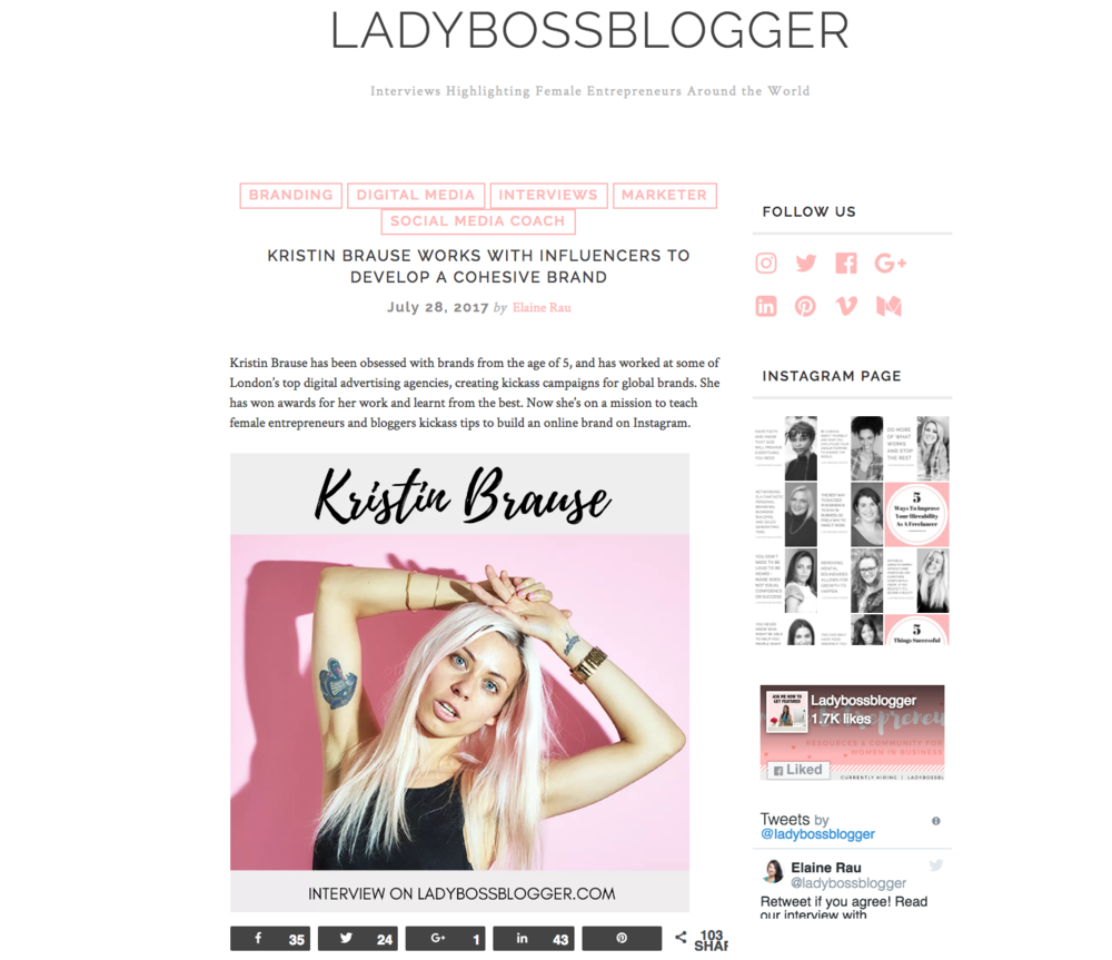 Ladybossblogger - KristinBrause.com