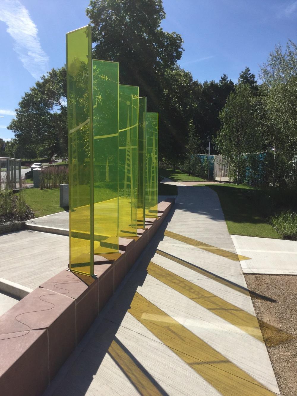 Daresbury Linear Park sculpture