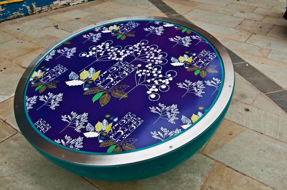 PONTYPOOL PATTERNS   Unique screen-printed pattern developed through community workshops by surface pattern designer.