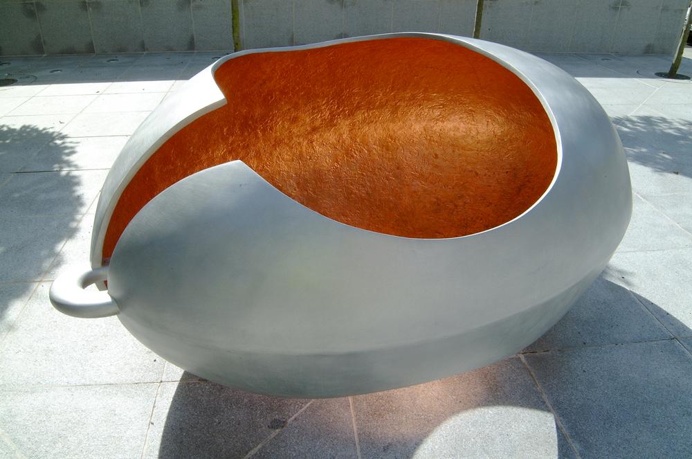 THE SEED   Organic sculpture cast in aluminium