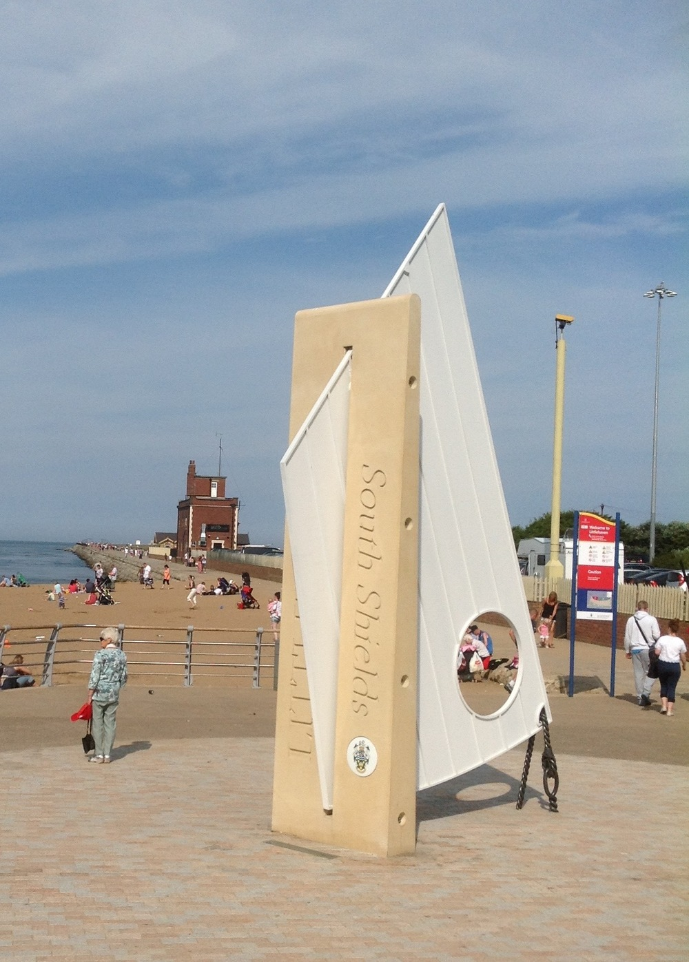 COBBLE SAIL   Gateway feature drawing people to the new promenade