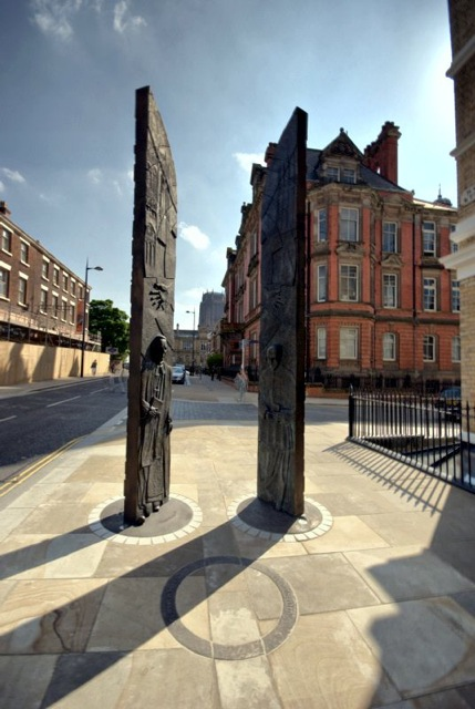 BETTER TOGETHER  SHEPPARD WORLOCK MEMORIA L  Sculpture takes the form of two 4.5m high doors