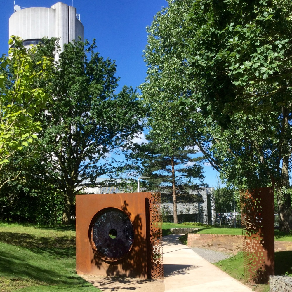 GATEWAY TO WONDERLAND   Marks the threshold to the Linear Garden, Daresbury