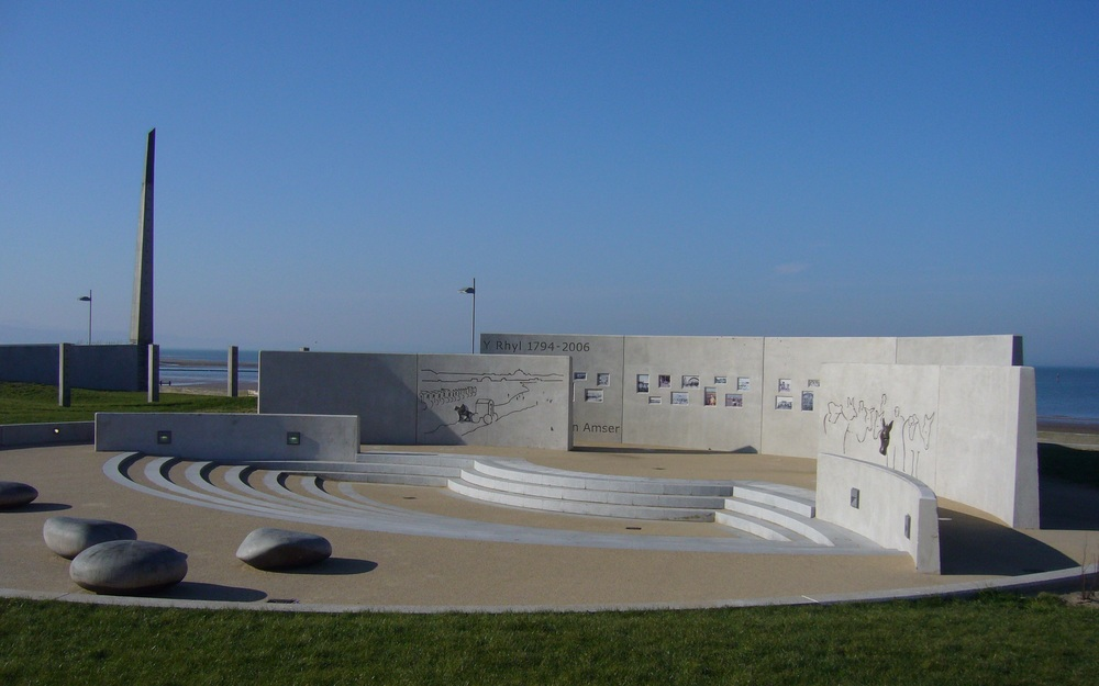 DRIFT PARK, RHYL   Integrated landscape and art scheme revitalises the West End Promenade, highlighting Rhyl's heritage