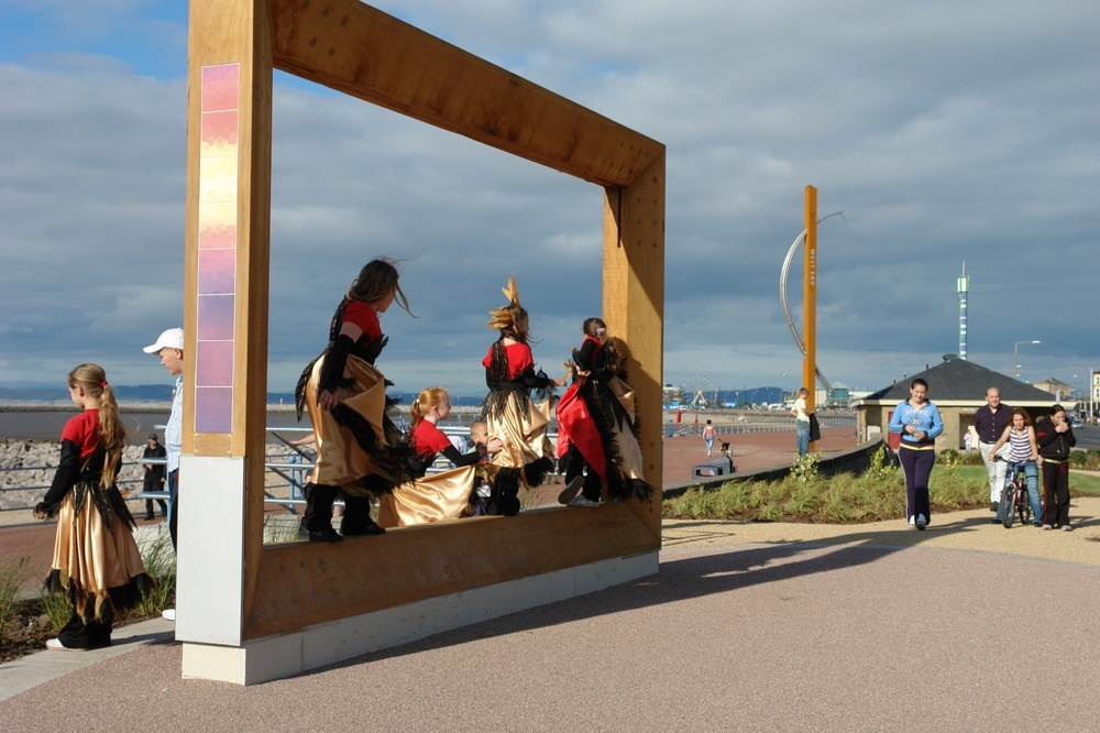 WEST END GARDENS, MORECAMBE   Teamed with BCA Landscape to create integrated artworks to rejuvenate new promenade gardens