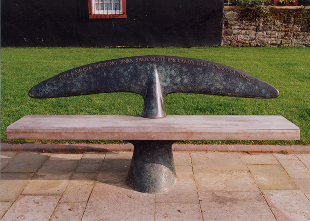 WHITEHAVEN -  FIN SEAT  16 unique sculptural, patinated bronze and timber seats