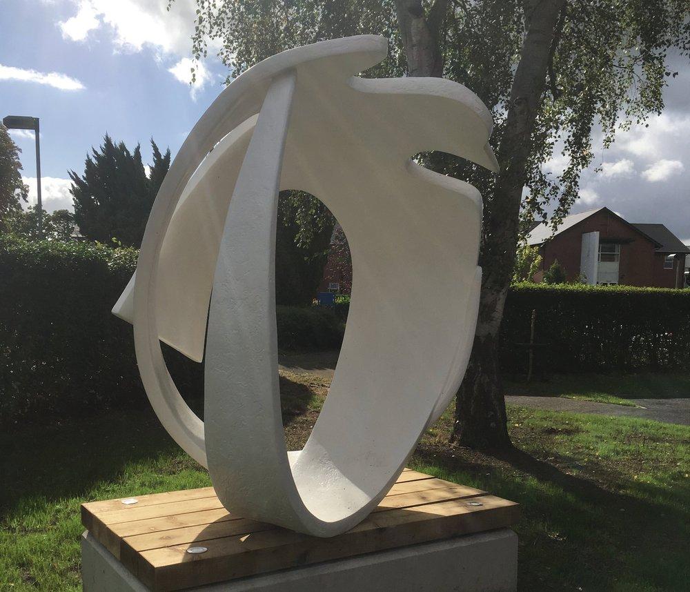 ANCORA BIRD   White 2m sculptural bird seat & shelter