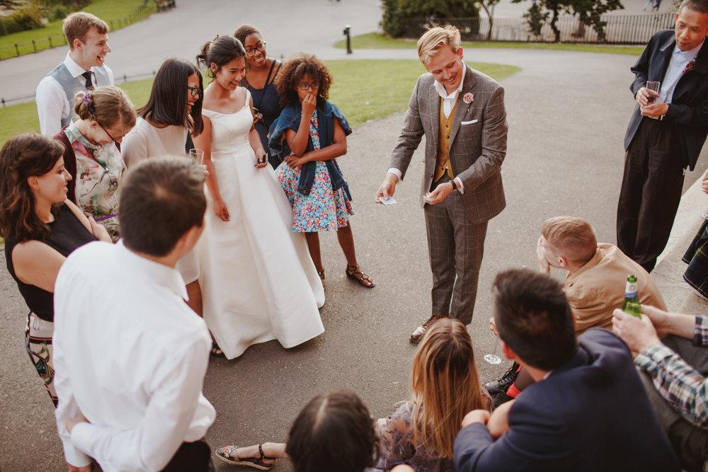 An intimate wedding in Hackney