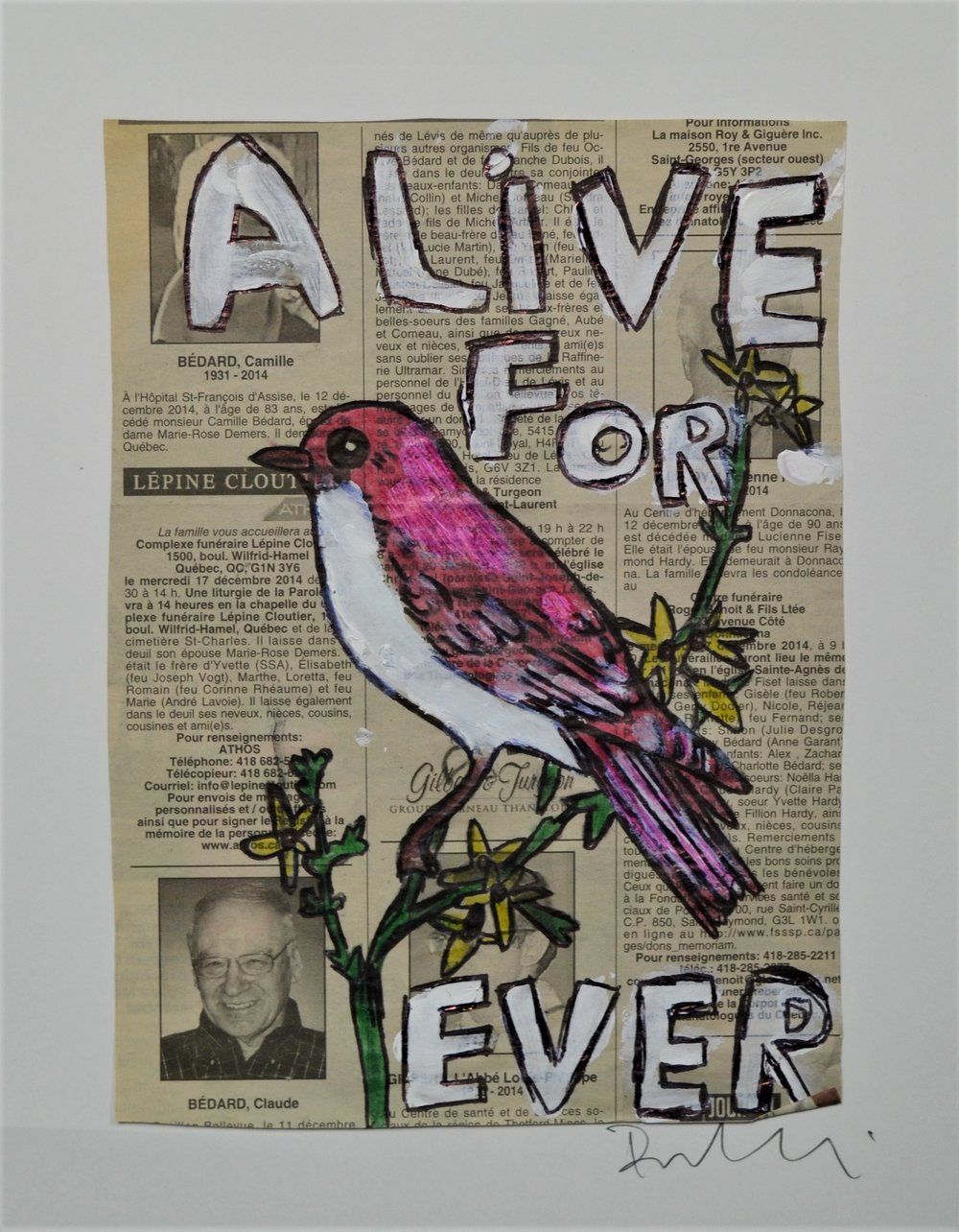 """Alive for ever"" 22 x 28 cm"