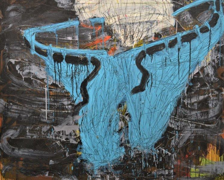 """Aching jeans / filthy body"" 154 x 124 cm"