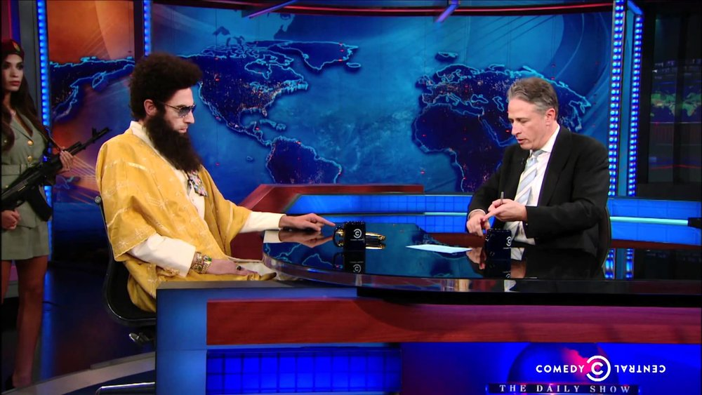 Interviewing on The Daily Show with Jon Stewart