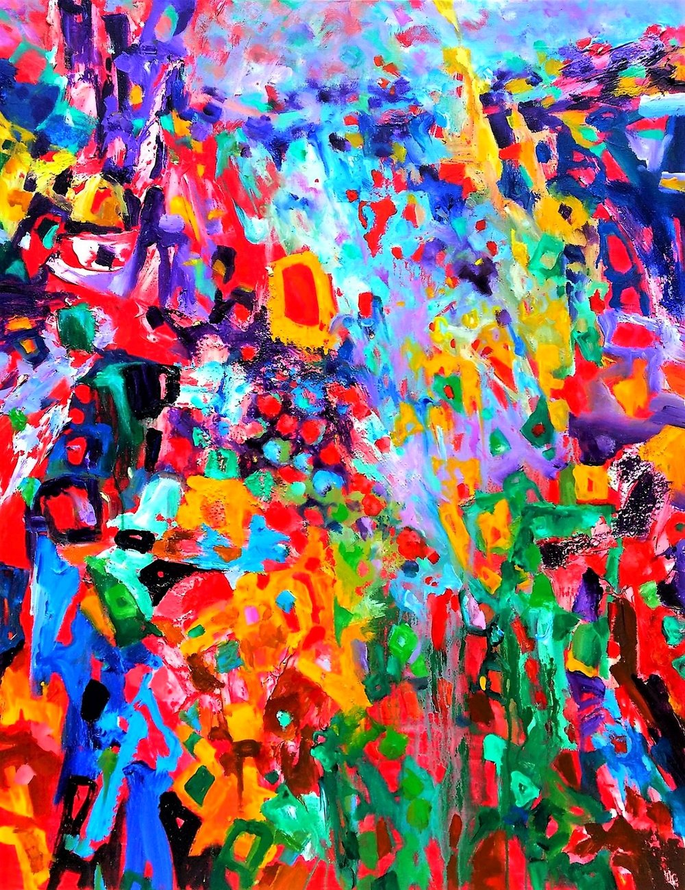 Collection Colorscapes. Summer In Vermont. Series Vermont I Love You_Acrylic canvas_48x36.jpg