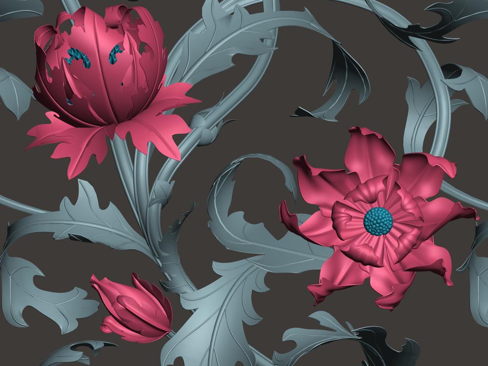 McLeod, Natalie.  Detail,   I Heart JHD  [digital print design]. 2012