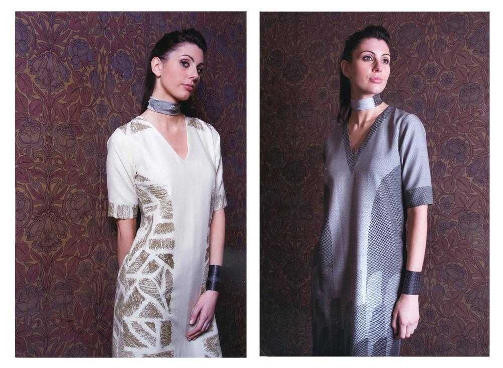 McLeod, Natalie.  Engineered Screen Print  [screen-printed womenswear collection]  Mackintosh and Atrium Galleries, The Glasgow School of Art, UK, 2006/2007.