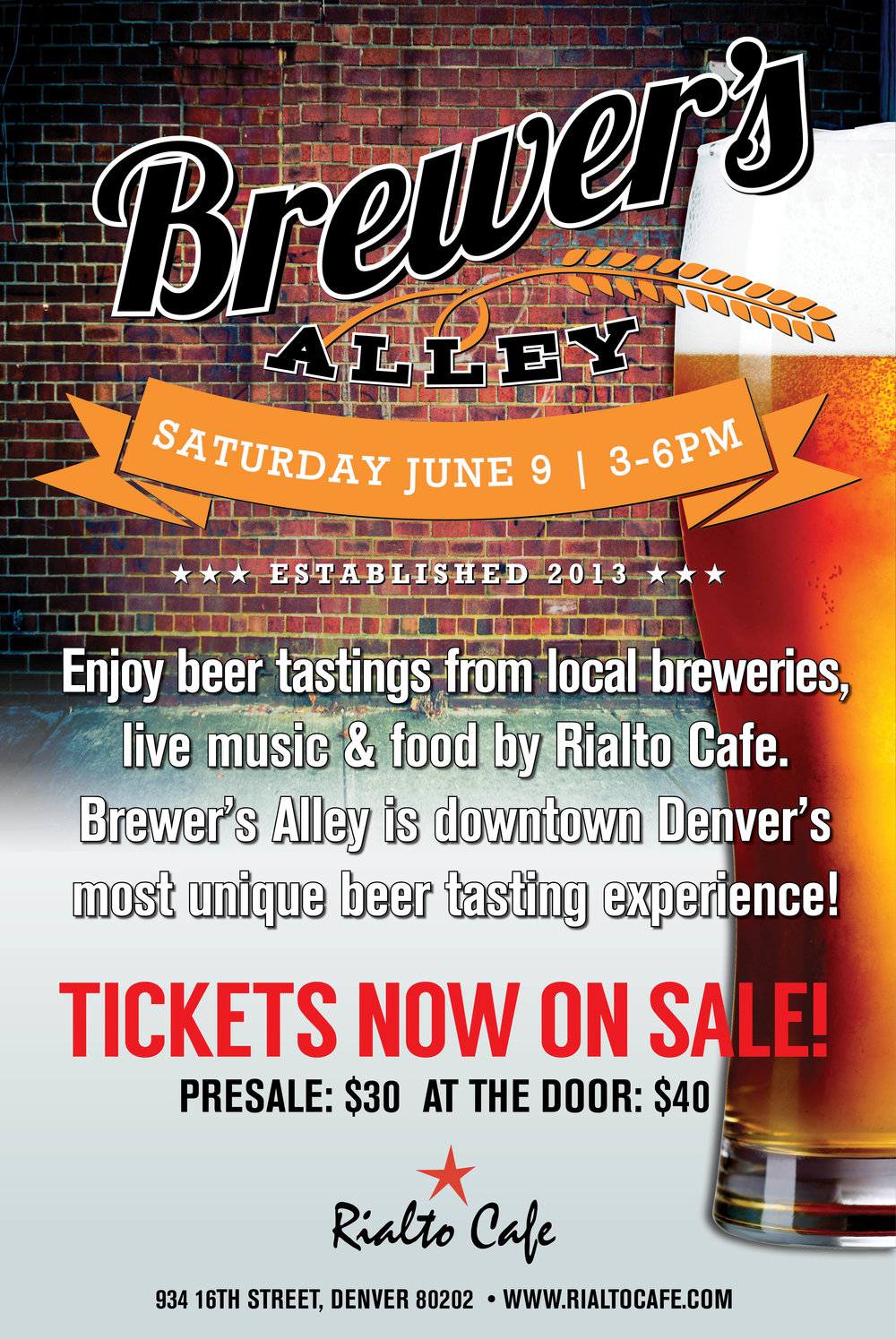 Join Us for Brewer's Alley - Denver's most unique beer tasting experience!