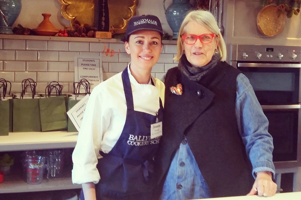 With Darina Allen at Ballymaloe.