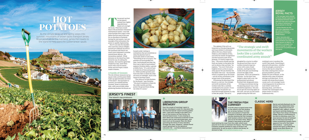 Jersey travel feature in Great British Food