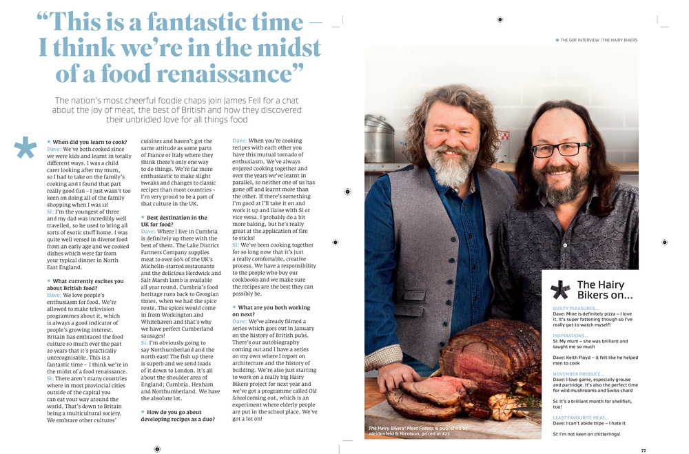 Interview with The Hairy Bikers in Great British Food